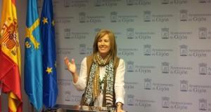 Pilar Fernández Pardo, en rueda de prensa.