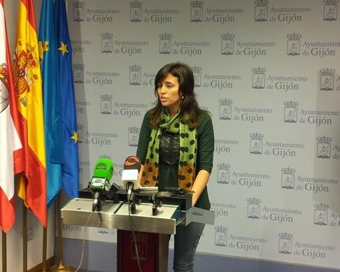 Raquel Vega, en rueda de prensa.